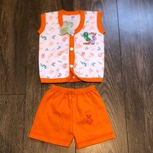 3 for $15 • NWT orange 2 piece set